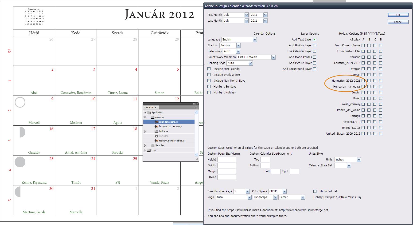 Adobe Indesign Calendar : Indesign haldesign
